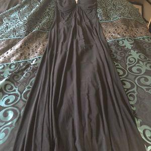 Windsor Black dress W/ Rinstone straps
